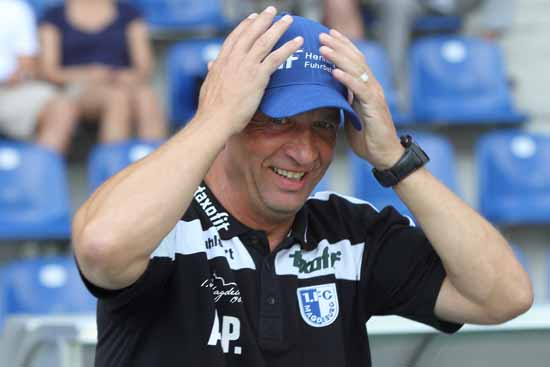Andreas Petersen, Trainer des 1.FC Magdeburg.