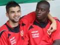 Mateo Susic (li.) und John Jairo Mosquera (re.) nahmen auf der Bank Platz.
