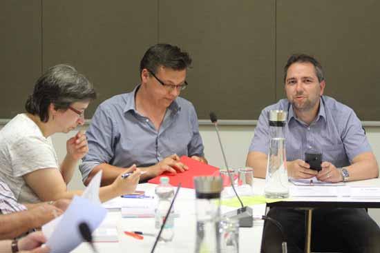 Die SPD - Fraktion: Kerstin Schwerin, Dominic Lübke, Tim Kolbe