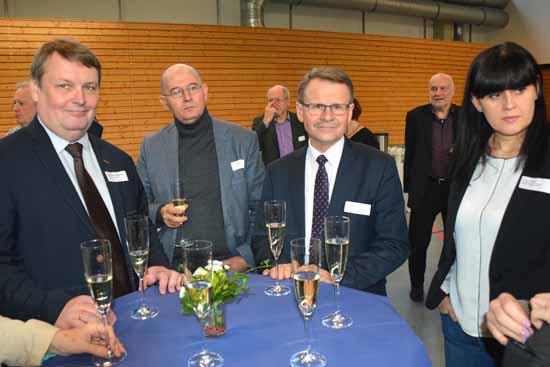 Die polnischen Gäste mit ihrem Landrat Wroblewski und Bürgermeister Fabis