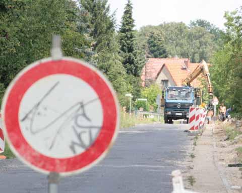 Straßenerneuerung