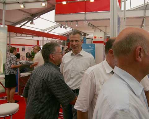 ILA 2010: Bürgermeister Markus Mücke besuchte Luftausstellung.