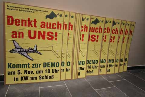 Demonstration in Königs Wusterhausen. Ministerpräsident Platzeck soll reden!