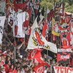 Die Nordwand im Stadion der Freundschaft.