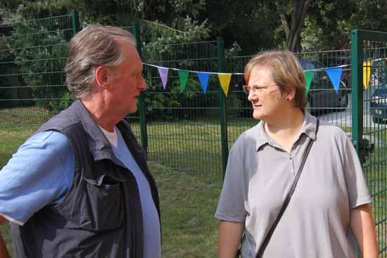 Sehen den gemeinsamen Schulbau unterschiedlich: CDU Chef Joachim Kolberg und Fraktionschefin Winifred Tauche (Die Linke), Foto: mwBild