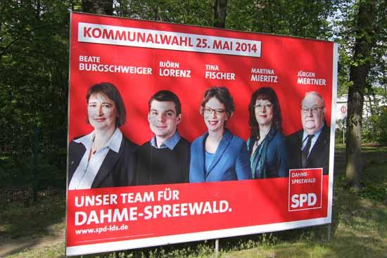 """""""Scheinkandidatur"""": Ob Beate Burgschweiger auch nach der Wahl zum """"Team für Dahme Spreewald"""" zählt ist höchst unwahrscheinlich. (Foto: Wolff)"""