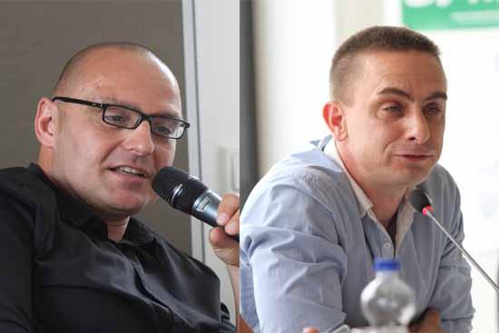 Björn Lakenmacher (CDU, links) attackierte die Landesregierung scharf. Oliver Mücke (Piraten, rechts) kritisierte die mangelnde Transparenz beim BER Projekt.