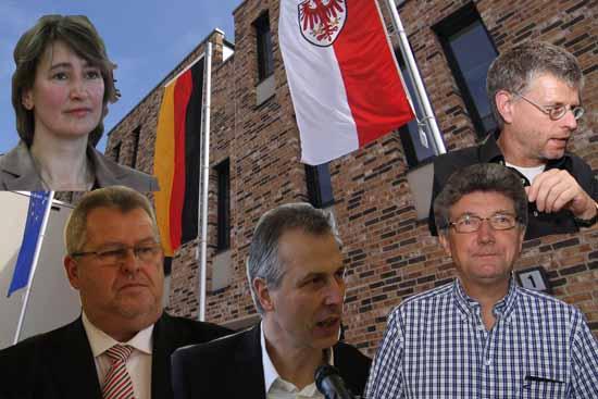 Die Wahlhilfe von fünf Bürgermeistern für Tina Fischer (SPD) hatte ein Nachspiel. Landrat Stephan Loge gab ihnen Hinweise zu rechtskonformen Verhalten im Wahlkampf. (Bildmontage: Bliefert)