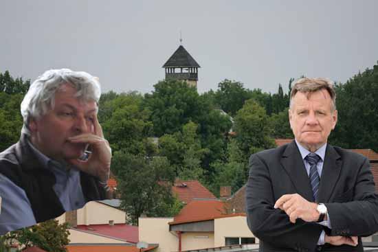 """""""Wir haben mit unserem Schallschutzprogramm BER an Fahrt aufgenommen."""", das verkündete FBB Chef Mehdorn unlängst. Jörg Pohland will sich der Jubelstimmung nicht anschließen. (Foto: Wolff/ Wickert, FBB, Bildmonatge Bliefert)"""