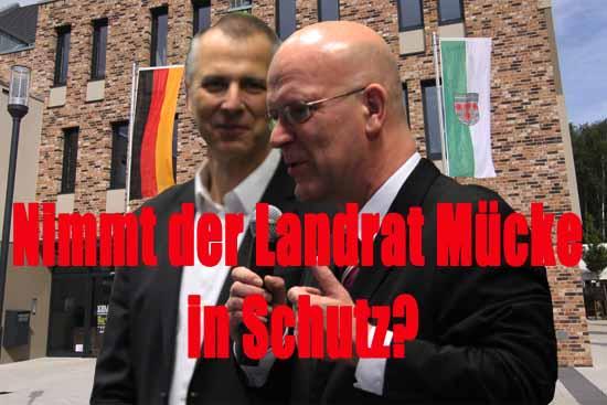 Landrat Stephan Loge (rechts) und Bürgermeister Mücke verstehen sich gut. (Foto:mwBild)