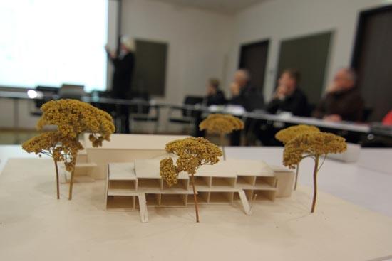Und so sieht der Anbau im Modell aus. (Foto: mwBild)