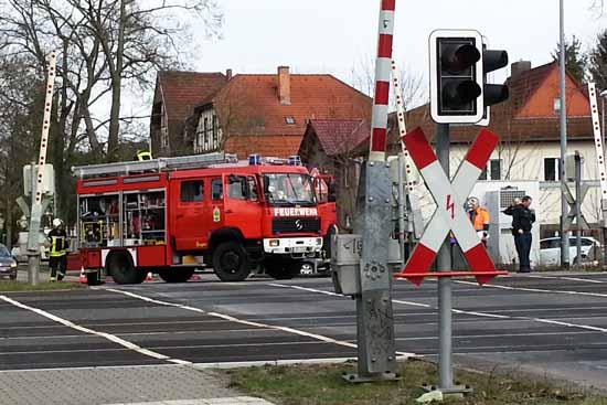 Zwischen Grünau und Zeuthen kam es mehrere Stunden zur Unterbrechung des Zugverkehrs. (Foto: Herbst)
