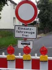 Straßenbauarbeiten: Vollsperrung in Schulzendorf
