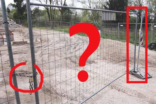 """Für abenteuerlustige Kinder dürfte diese """"Baustellensicherung"""" leicht zu meistern sein. (Foto: mwBild)"""