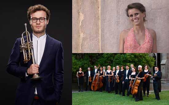 Gerlint Böttcher (Klavier), Simon Höfele (Trompete) und das Südwestdeutsche Kammerorchester Pforzheim unter der Leitung von Timo Handschuh eröffnen die Schlosskonzerte Königs Wusterhausen.