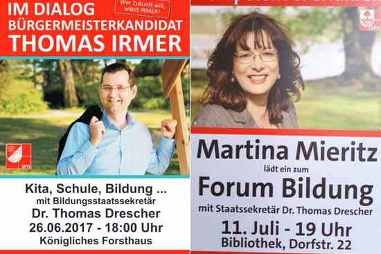 Wahlkampf – Affäre: Wurde Dr. Drescher getäuscht? – Mieritz (SPD) schweigt.