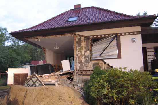 Das Haus bleibt vorerst unbewohnbar. (Foto: mwBild)