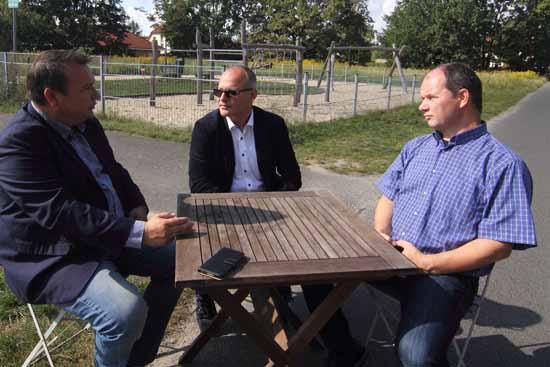 Das Trio erzielte breite Übereinstimmung in wichtigen Fragen der Kommunen. (Foto: mwBild)