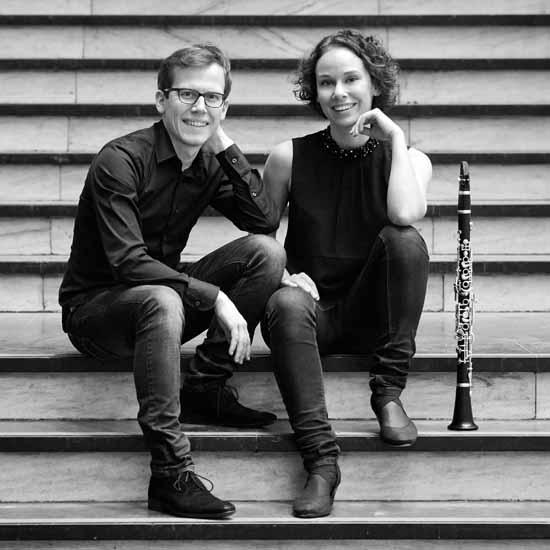 Zu Gast bei den Schlosskonzerten Königs Wusterhausen: Bettina Aust (Klarinette) und Robert Aust (Klavier) Foto: Maike Helbig.