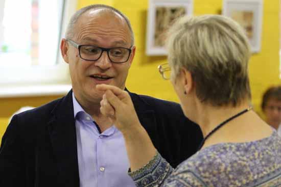 Andreas Körner im Gespräch mit Winnifred Tauche (Foto: mwBild)