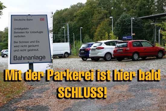 Lange hat die Deutsche Bahn darüber hinweggeschaut, dass auf ihrem Gelände unberechtigt Fahrzeuge parkten. Dass soll bald vorbei sein. (Foto: mwBild)