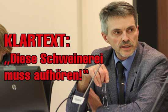 Andreas Wilhelm nahm kein Blatt vor den Mund. Mit scharfen Worten kritisierte er die Verschwendung von Steuergeldern. (Foto: mwBild)