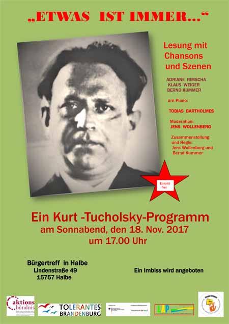"""Veranstaltung """"Etwas ist immer …"""" zu Kurt Tucholsky"""