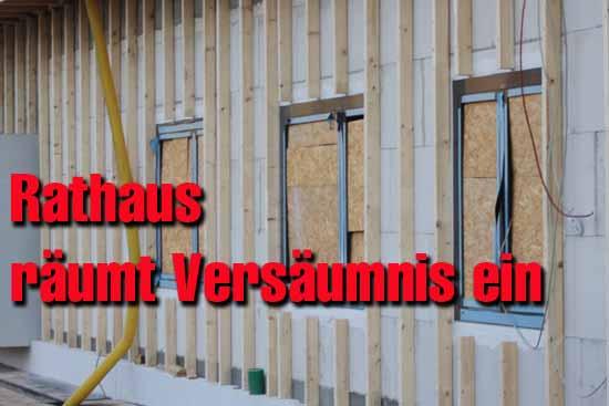 Die Fenster - Panne hat erhebliche Auswirkungen auf den gesamten Bauablauf. Ob der dadurch entstandene Bauverzug aufgeholt werden kann, ist fraglich. (Foto:mwBild)