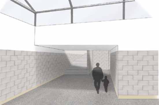 So soll der Personentunnel aussehen (Entwurf: DB Netz AG u. DB Station&Service AG)