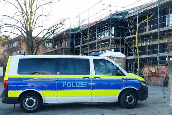 Hort Schluderei: Polizei rückte aus
