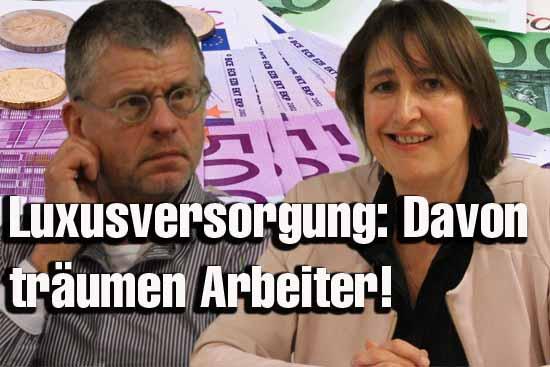 Beate Burgschweiger und Bernd Speer sollten ein Teil ihres Ruhegehaltes spenden, falls sie eine neue Tätigkeit aufnehmen. (Foto: mwBild)