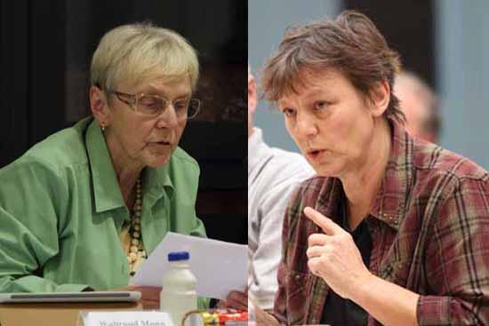Waltraut Mann (li.) und Ines Fricke tauschen die Plätze im Gemeinderat. (Foto: mwBild)
