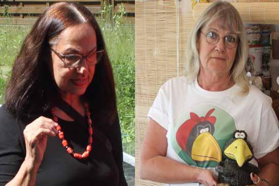 Susanne Thäsler-Wollenberg (links) und Claudia Eichler öffneten zwei Tage lang ihre Werkstatt Türen für Interessierte. (Foto:mwBild)