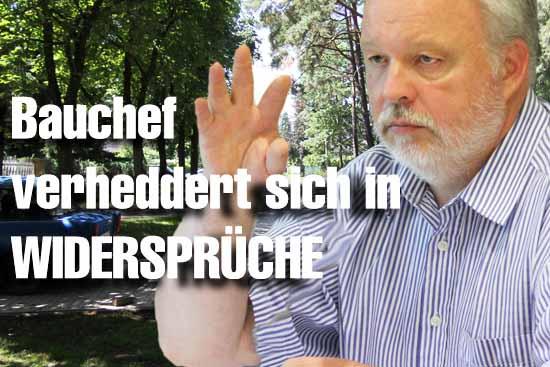 Bauchef Jörg Sonntag sorgte mit seinen Aussagen nicht für Aufklärung sondern für eine Menge Fragen. (Foto: mwBild)