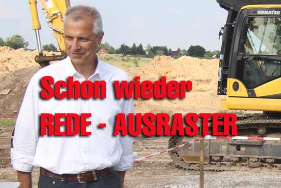 Spatenstich: Bürgermeister Mücke (SPD – nominiert) diskriminiert ausländische Investoren