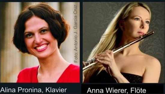"""""""Sommerliche Flötenklänge""""  mit Anna Wierer und Alina Pronina"""