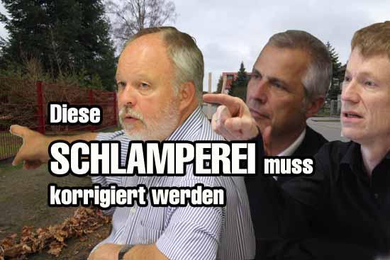 Bauchef Sonntag, Bürgermeister Mücke und Finanzverantwortlicher Reech (v.links) - Setzen sie die richtigen Schwerpunkte in Sachen Gemeindefinanzen? (Foto:mwBild)