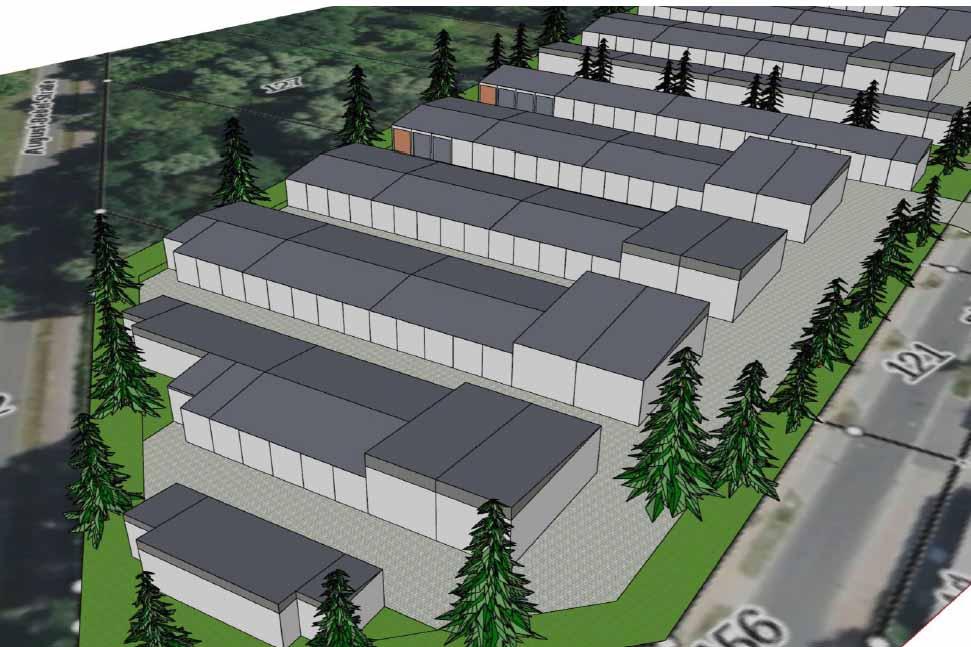 So wird es bald im Ortszentrum aussehen, wenn der Gemeinderat der B - Plan Änderung zustimmt. ( Foto: Präsentation Gemeinde Schulzendorf www. Schulzendorf.de)