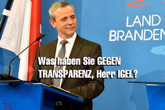 Dialogforum: Vize – Chef  Igel (SPD) giftet gegen Transparenz
