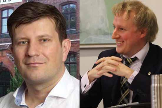 Die Chefs von Grünen und FDP sind sich einig: Jonas Reif (links) und Karl Uwe Fuchs