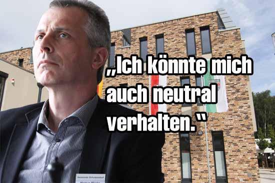 Löste wieder einmal Zoff aus: Bürgermeister Mücke (Foto: mwBild)