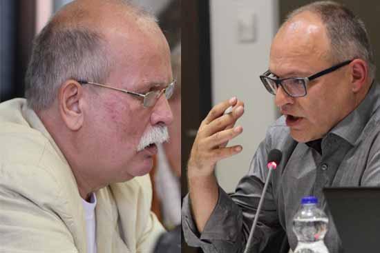 Gernut Franke (li.), Fraktionschef vom Bürgerbündnis, und Andreas Körner wollen mit ihrem Antrag mehr Transparenz erreichen. (Foto:mwBild)