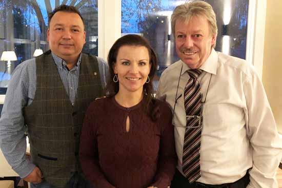 Von links: Sven Herzberger, Jana Schimke und Hartmut Leutloff.