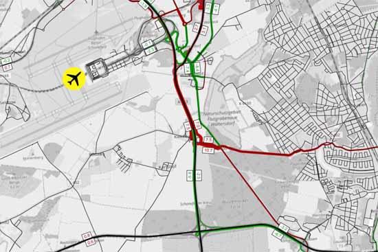 Mit Eröffnung der AS Kiekebusch wird die B 179 bei Waltersdorf täglich um 7.000 Fahrzeuge entlastet. (Präsentation IHK Cottbus)