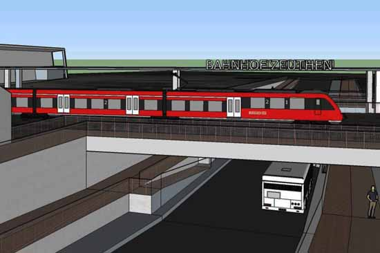 So könnte die Unterführung am S -Bahnhof Zeuthen (Forstweg) nach den Vorstellungen der Grünen aussehen.