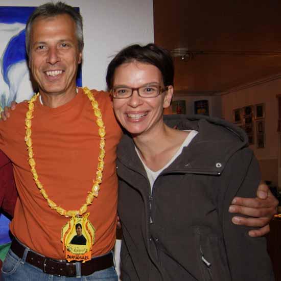 Gute Freunde: Markus Mücke und die SPD Chefin von Dahme - Spreewald, Tina Fischer. (Foto: Archiv/mwBild)