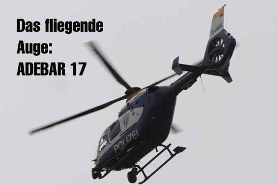 Schulzendorf/Eichwalde: Polizei mit ADEBAR 17 auf der Jagd nach Einbrechern