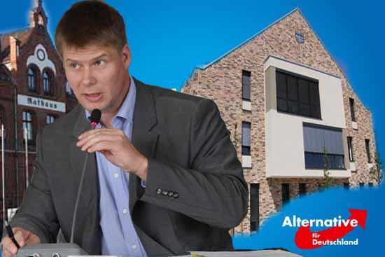 AfD - Chef Kotre rechnet fest mit dem Einzug in die Gemeindevertretungen von Schulzendorf und Zeuthen. (Foto: mwBild)