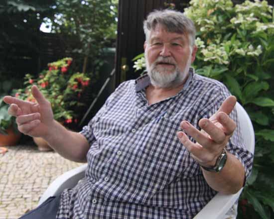 Reinhard Bolduan, Sprecher der Interessensgemeinschaft Altanschließer Schulzendorf (Foto: mwBild)
