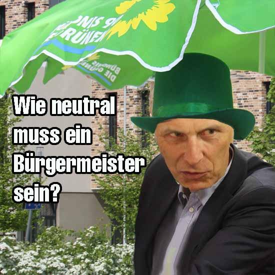 Bürgermeister Mücke (SPD – nominiert) greift in den Wahlkampf ein